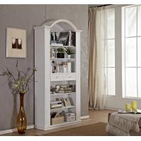 Wholesale Tall Narrow Wooden Book Case With Sliding Drawer / Vaulted Roof / Adjustable Shelves from china suppliers