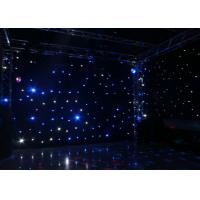 Buy cheap Wedding Decoration Led Star Curtain Lights , Led Star Cloth Backdrop DC12V/3A from wholesalers