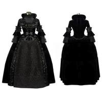 Wholesale Medieval Dress Wholesale XXS to XXXL Black Gothic Renaissance Medieval Evening Party Dress Cosplay from china suppliers