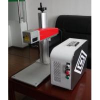 Wholesale 20W Mini fiber laser marking machine for plastic PVC data matrix and barcode from china suppliers