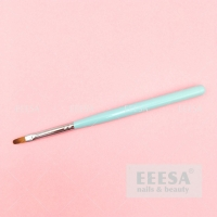 Wholesale Sky Blue Wood Handle Round Synthetic Building Gel Nails Oval Nail Brush from china suppliers
