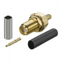 Wholesale Gold SMA Male Female Coaxial Connector Bulkhead Crimp With Reverse Polarity Plug from china suppliers