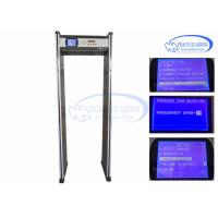 Wholesale Door Metal Detector Walk Through Gates For Foreign Objects , Airport Security Walkthrough Gate With Audio Alarm from china suppliers