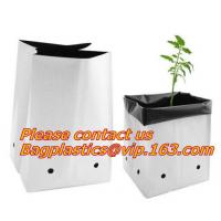 China Planters Biodegradable Garden Bags , Flower Plant Bags Plant Grow Nursery Poly Pots on sale