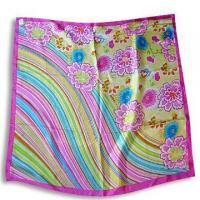 Wholesale 100% Silk Scarf with Printed Design from china suppliers