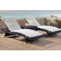 Wholesale Outdoor garden sunbed lounge chair Modern PE Rattan wicker beach chair from china suppliers