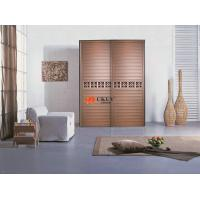 China Customized Cupboard MDF + Melamine Louver Door , 9mm Indoor Swing / Sliding Doors on sale