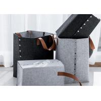 China Double Color Felt Cube Storage Boxes Housewives Necessary With Large Capacity for sale