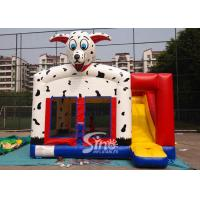 China Outdoor N indoor spotted dog inflatable bounce house with slide for family yard parties for sale