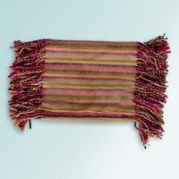 Wholesale 100% Acrylic Scarf with Multicolor Striped Design and 8cm Fringe from china suppliers