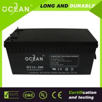 Wholesale Best price 12v 200ah capacity battery maintenance free solar system 12v 200ah battery from china suppliers