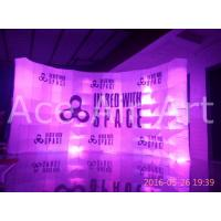 Wholesale custom free standing inflatable curve wall with logo for advertising and exhibition from china suppliers