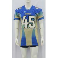 Wholesale Comfortable Printed America Football Jersey Digital Sublimation 140-230gsm Fabric Weight from china suppliers