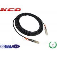 China Integrated 28AWG SFP+ to SFP+ Cable 10 GBPS , Active Optical Cable on sale