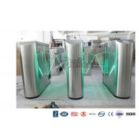 Underground Entrance Flap Barrier Gate Optical Turnstile ESD System DC 24V Brush