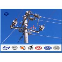 Steel Q345 Material Steel Utility Pole for Transmission and Distribution Line