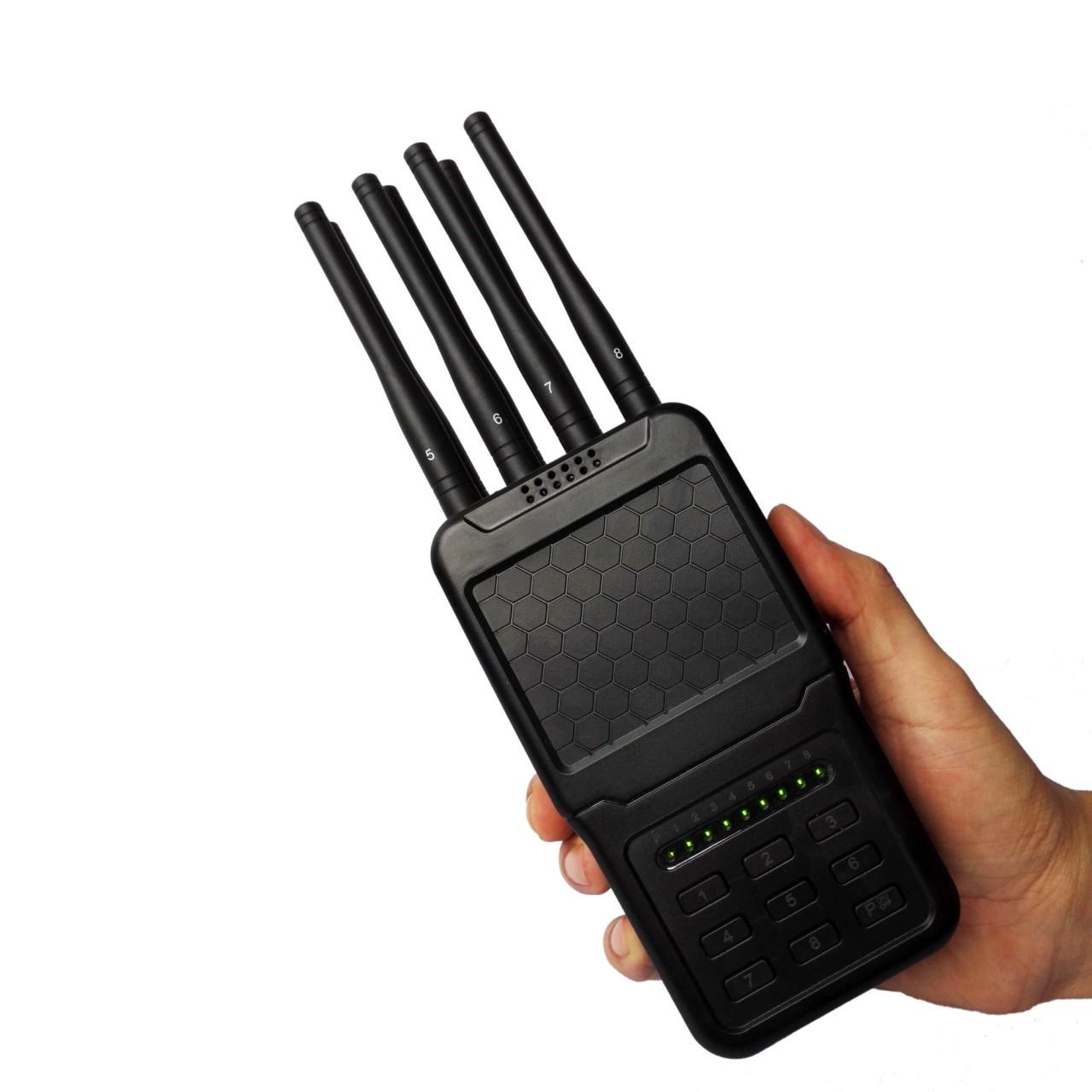 Wholesale Selectable Keys Portable Cell Phone Signal Jammer 3G 4G WiFi GPS Blocker 8 Bands from china suppliers