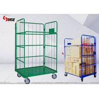Green Movable Roll Container Trolley Four Layer For Factory / Workshop for sale