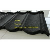 Wholesale Stone Coated Metal Roof Tile size 1300*420mm Thickness 0.45mm Roman Tile JC109 Green Black from china suppliers