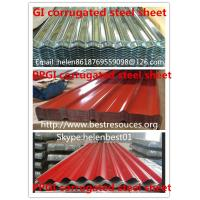 Wholesale 0.50mm*840mm*4000mm roof plate PPGI corrugated steel sheet from china suppliers