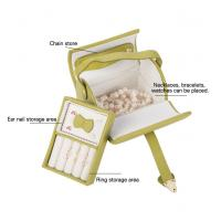 China Full Set Leather Travel Jewellery Box , Clear Personalized Travel Jewelry Case for sale