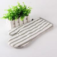 Wholesale Grey And White Strip Kitchen Oven Mitts / Hosehold Heat Proof Oven Gloves 18*28 Cm from china suppliers