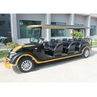 Black Classic Electric Cars , Sightseeing 8 Seater Club Car Electric Golf Cart for sale