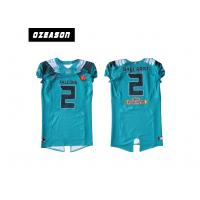 Wholesale Polyester Mesh Sublimated Football Jerseys / American Football Shirt For Training from china suppliers