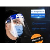 China Recyclable Plastic Clear Full Face Shield With Sponge Prevention Public Protective adjustable Reusable anti virus for sale