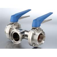 Buy cheap Safety Hygienic Stainless Steel Sanitary Valves With 580 Psi Maximum Pressure from wholesalers