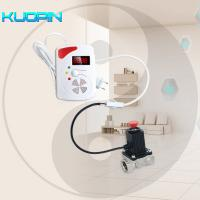 Wholesale Wireless Voice Prompt Flash Siren LPG Natural Gas Leak Sensor with Auto Shut Off Solenoid Valve Combustible Gas Detector from china suppliers