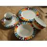 superwhite porcelain/ceramic  16pcs dinnerware set with colour box /round dinner set for sale