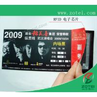 Wholesale RFID concert ticket,200*80mm or customized size from china suppliers