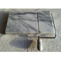 """Wholesale 5"""" Marble Cheese Slicer , Marble Cheese Board Cutter Anti Slip White With Vein from china suppliers"""