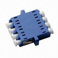 Wholesale LC Fiber-optic Adapter, Four Cores, Quad, Single-mode, Metal Clip, Split Body, with Flanges  from china suppliers