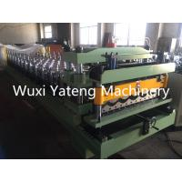 Best 45# Steel Material Glazed Tile Roll Forming Machine With Mirror Polishing 0.4 - 0.8mm Thickness wholesale