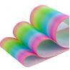 Oem Logo Pastel Rainbow 75mm Glitter Ribbon Custom 1 Print Grossgrain for sale