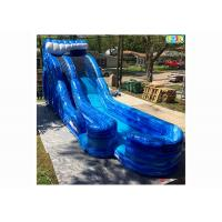 China Playground Giant Inflatable Slide , Safe Inflatable Double Slide on sale