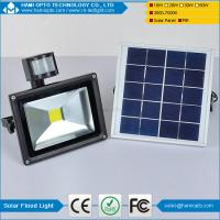 Wholesale Energy saving IP65 waterproof pir motion sensor 10W outdoor solar led flood light from china suppliers