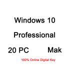 China Multiple Language Windows 10 Pro Licence Key 20 PC MAK Full Version for sale