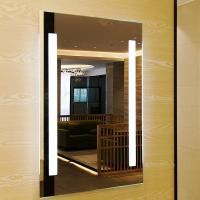 Smart Touch Sensor Switch Square Led Bathroom Mirror Wall Mounted Fogless Shower Mirror for sale