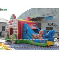 Wholesale Pink Princess Carriage Inflatable Jumping Castle Slide With Lead Free Material from china suppliers