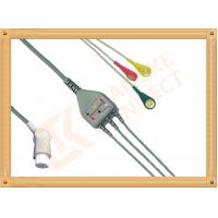 Gray SW Artema ECG Patient Cable 3 Leads Snap IEC durability