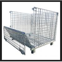 Wholesale Silvery Metal Mesh Storage Containers , Q235 Steel Heavy Duty Storage Cages from china suppliers