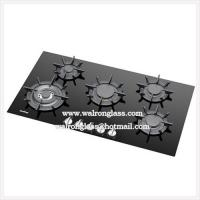 Wholesale Customized Gas Stove Glass6mm with 5 Holes Gas Hob Tempered Glass Panels from china suppliers