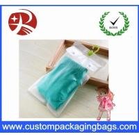 Wholesale Customized Easy Pack HDPE Pvc Hook Bag , Clear Pvc Bags with Zipper On Top from china suppliers