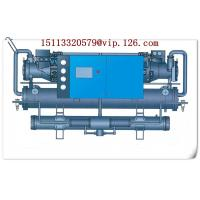 China Double shell and tube type central stationary water cooled chiller on sale