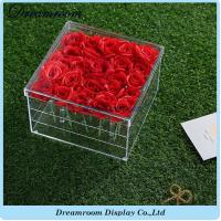 Wholesale High Quality Transparent Clear Acrylic Waterproof Fresh Flowers Boxes from china suppliers