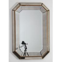 Rectangle Mirrored Tray 3D Wall Mirror Vintage Style 80 * 120cm Size for sale