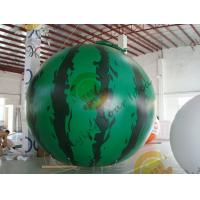 Wholesale 4m diameter watermelon Fruit Shaped Balloons Rainproof / Fireproof from china suppliers